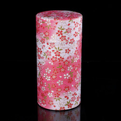 Japanese pink tea box washi paper YUKI
