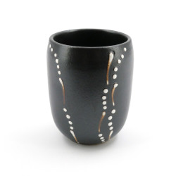 Japanese gray ceramic teacup 4003721D