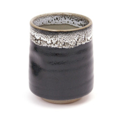 Japanese black teacup ceramic 40519