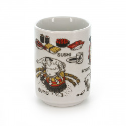 tasse traditionnelle japonaise à thé avec dessins JAPAN