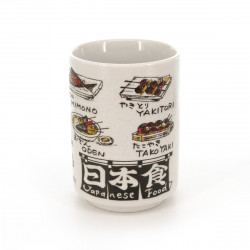 teacup with pictures white JAPANESE FOOD