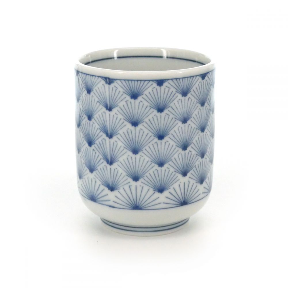 tea cup with patterns blue MATSU